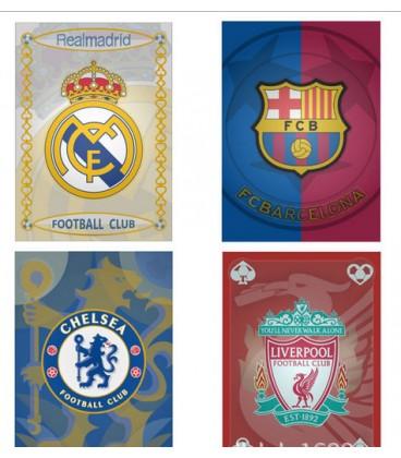Карты игральные разных клубов