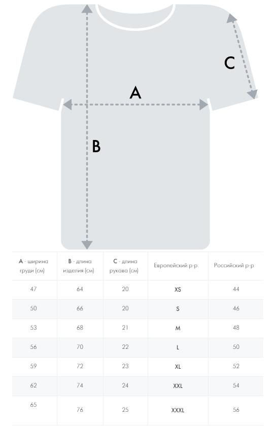 Таблица размеров Atributika&Club
